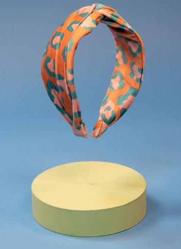 Powder - Printed Velvet Headband Leopard