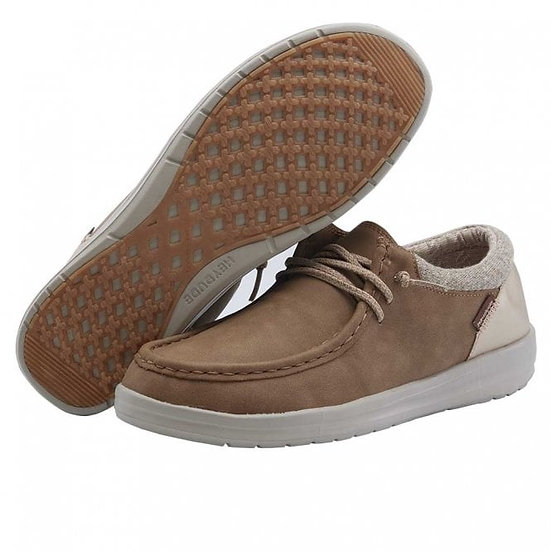 Hey Dude Shoes- Polly Recyc Leather Nut