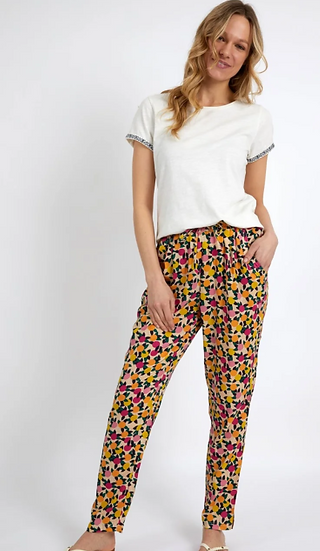 Weird Fish - Tinto Printed Viscose Trousers Apricot