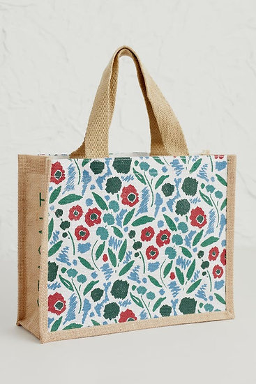 Seasalt - Pastel Foliage Chalk Jute Bag