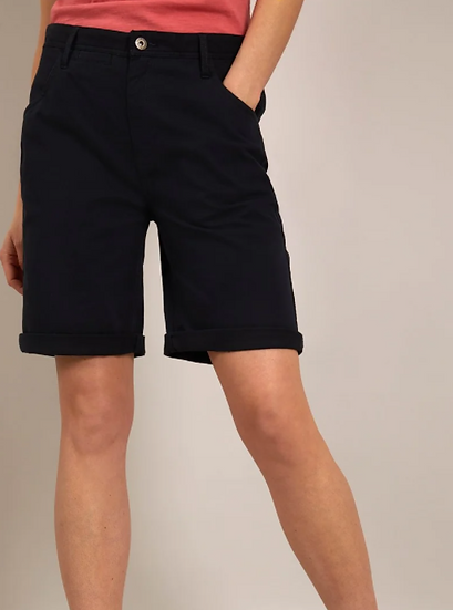 Weird Fish - Vittoria Organic Cotton Bermuda Shorts Navy