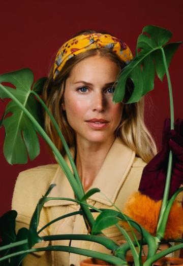 Powder - Printed Velvet Headband Floral