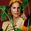 Thumbnail: Powder - Printed Velvet Headband Floral