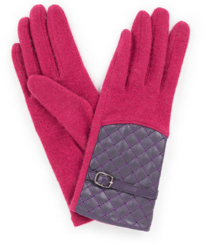 Powder - Lizzy Wool Gloves Raspberry