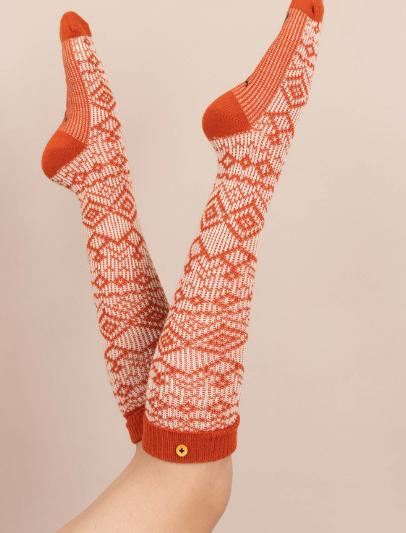 Powder - Fair Isle Boot Socks