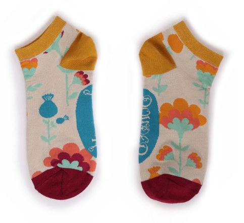 Powder - Scandi Floral Trainer Socks