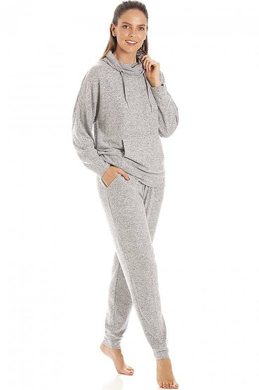 Camille - Comfy Fit Grey Marl Hacci Pyjama set