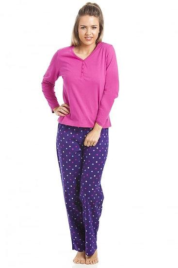 Camille - Pink And Purple Star Print Pyjama Set