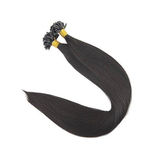 U-Tip Fusion Hair Extensions.100% Human Remy Hair. Colour(s) 1b(Natural Black).
