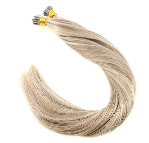 I-Tip Hair Extensions. 100% Human Remy Hair. Colour(s)18/613.