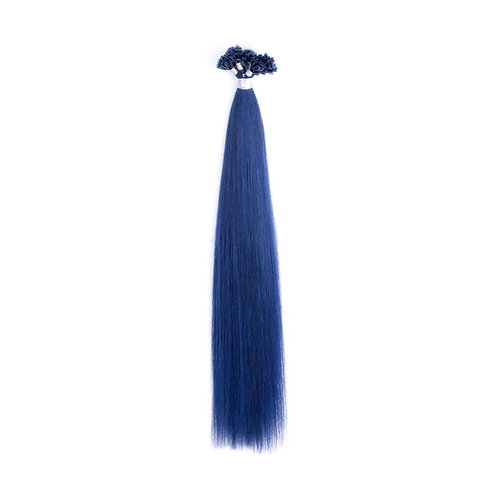 U-Tip Fusion Hair Extensions.100% Human Remy Hair. Colour(s) Smurfete Blue.