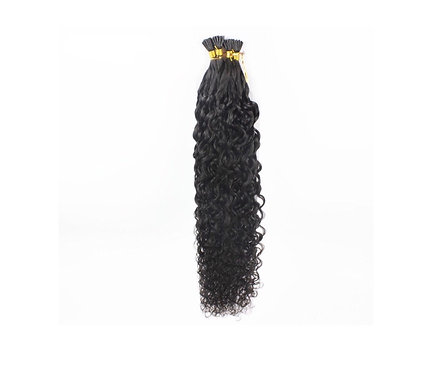 I-Tip Hair Extensions.100% Brazilian Remy Hair. Curly. Colour(s) #1