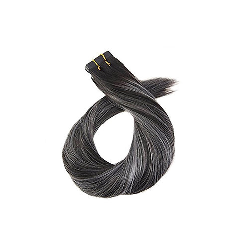 Tape In Hair Extensions. 100% Human Remy Hair. Colour(s) 1/Lt. Gray