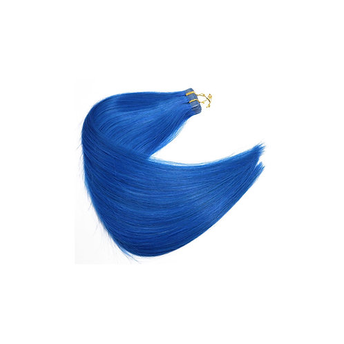 Tape In Hair Extensions. 100% Human Remy Hair. Colour(s) Electric Blue.