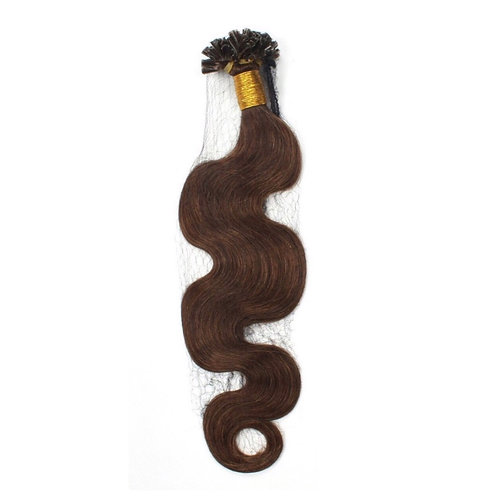 U-Tip Fusion Hair Extensions' Wavy. 100% Human Remy Hair. Colour(s) 4