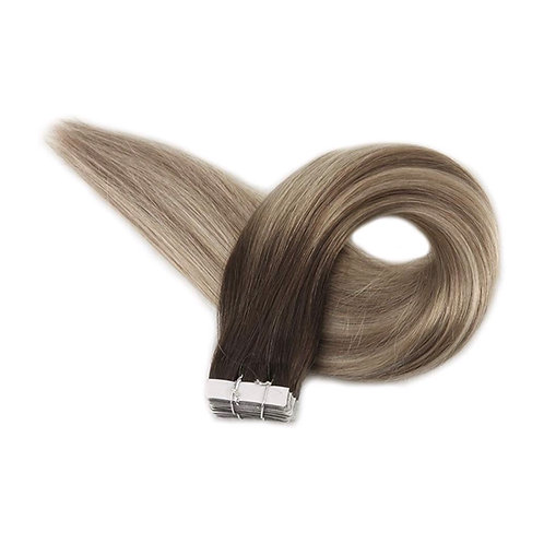 Tape In Hair Extensions. 100% Human Remy Hair. Colour(s) 3/8/22.