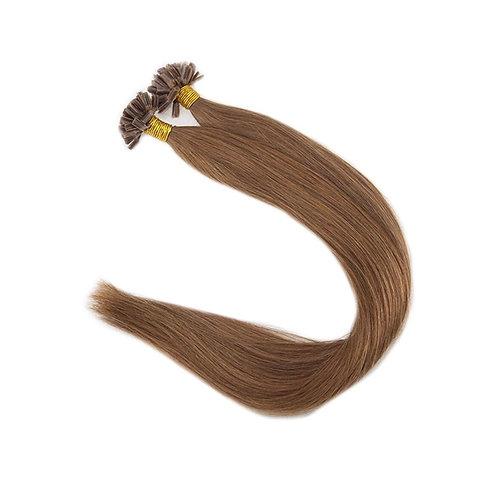 U-Tip Fusion Hair Extensions.100% Human Remy Hair. Colour(s) 8.