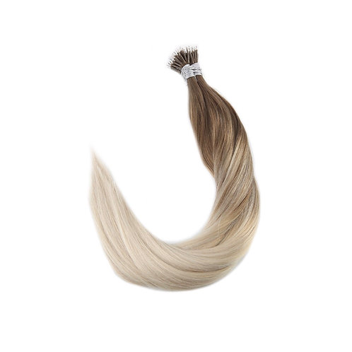 Nano Link Hair Extensions. 100% Human Remy Hair. Colour(s) 8/22/60.