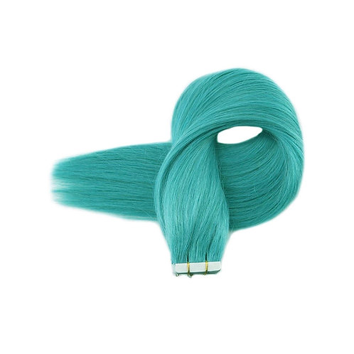 Tape In' Hair Extensions. 100% European Human Remy Hair. Colour(s) Teal