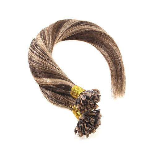 U-Tip Fusion Hair Extensions.100% Human Remy Hair. Colour(s) 4/24.