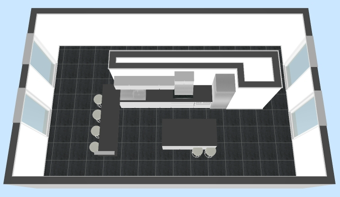 Kitchen Roomplan - 3D