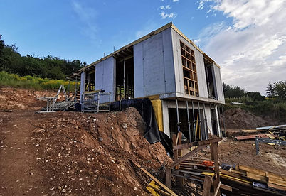 Individualaus pastato statybų procesas