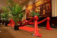 Theme decor red carpet entrance