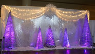 Theme decor frozen ice castle