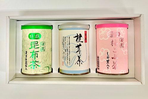 昆布・梅・椎茸茶3点セット