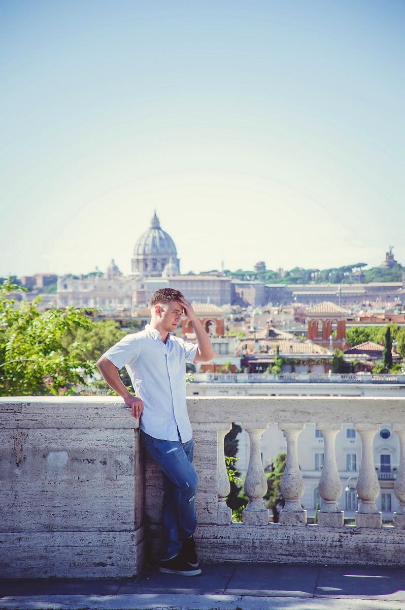 servizio fotografico di ritratto maschile a Roma