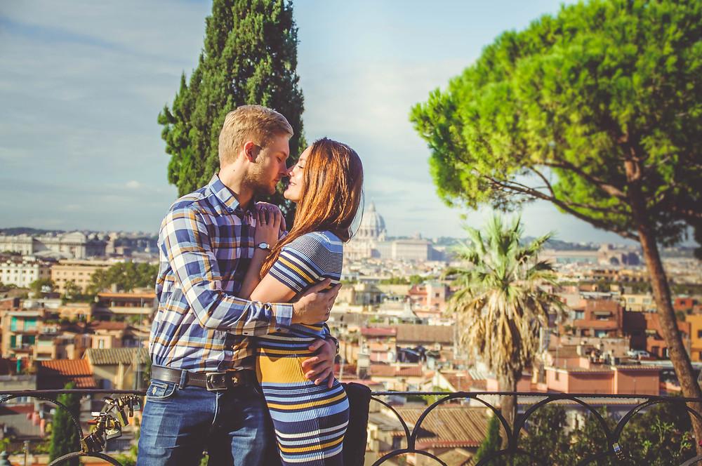 love story in Rome, фотосессия в Риме