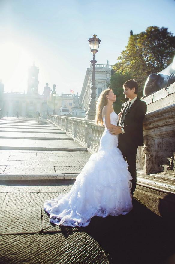 Нежная римская свадьба Ольги и Евгения
