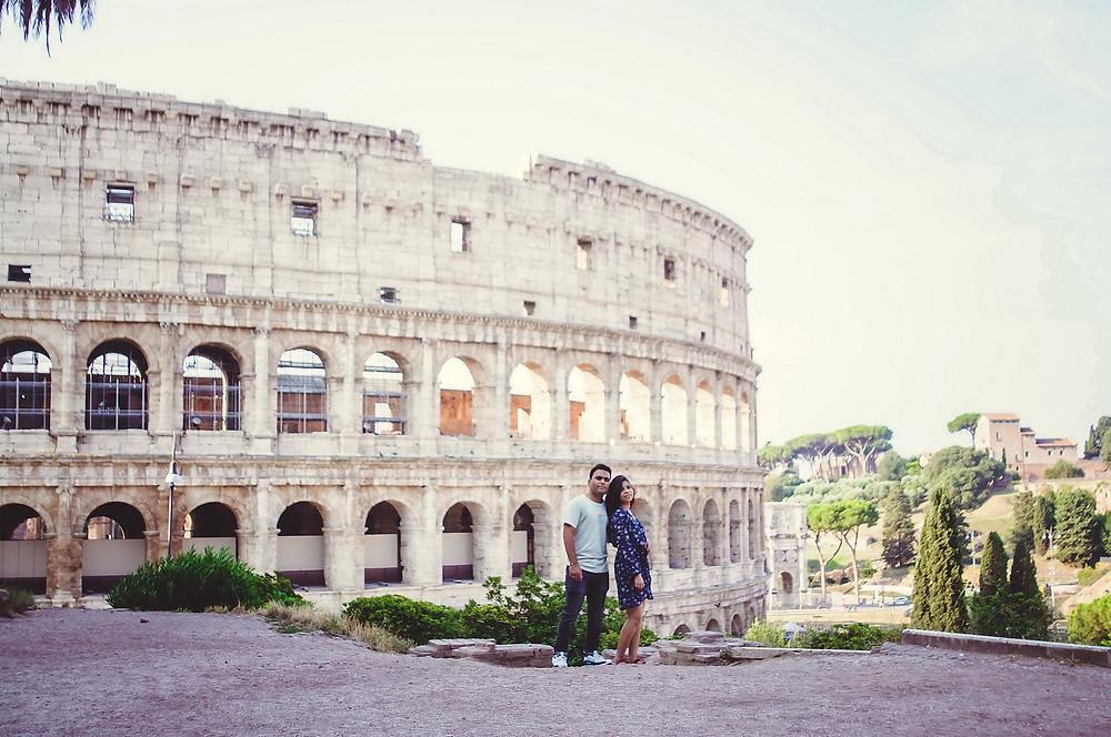 love story фотосессия в Риме от русскоговорящего фотографа в Италии