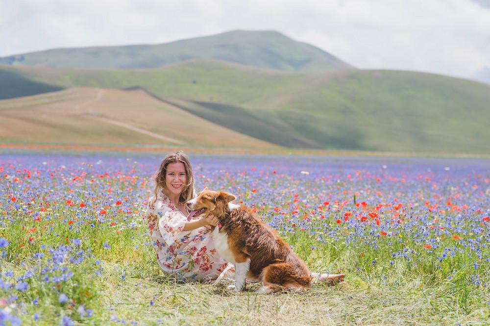 фотосессия с собакой в Италии, photoshoot in Italy