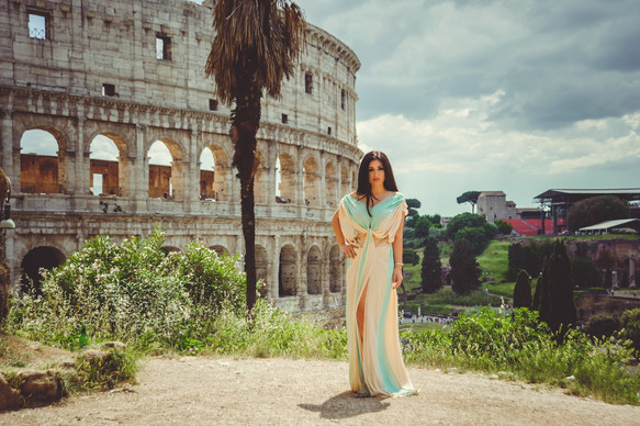 Photo shoot in Moroccan style in Rome