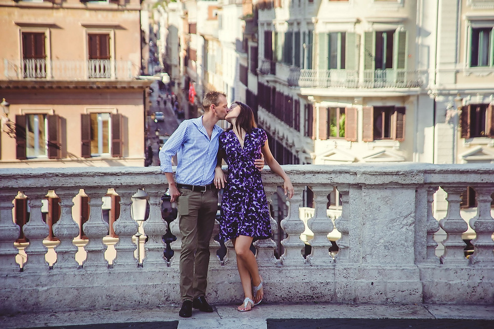 pre-wedding love-story photo shoot in Rome by destination wedding photographer Olga Angelucci