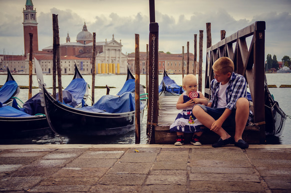 Childhood in Venice.