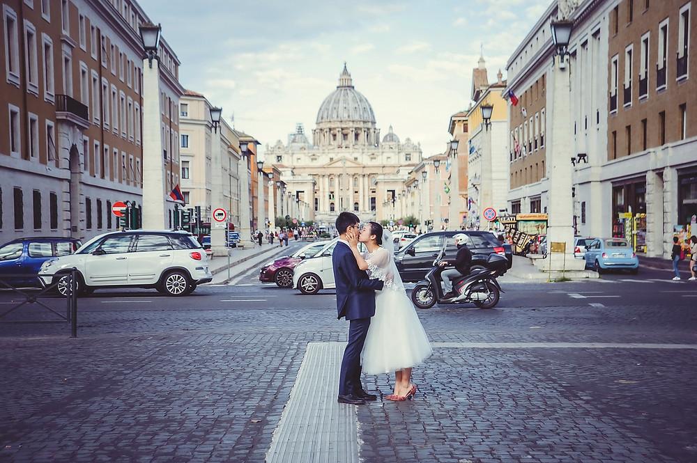 свадьба в Риме, wedding photo shoot in Rome