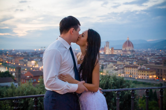 April wedding in Florence.