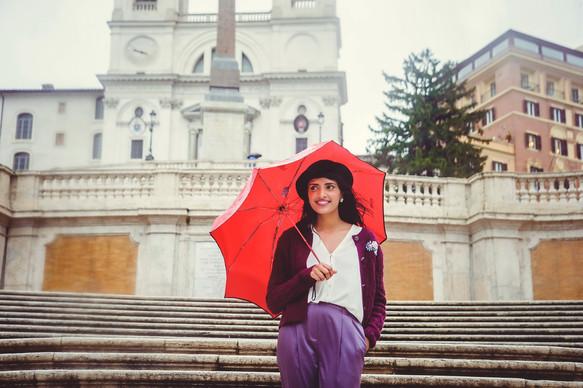 Photo shoot in the rain
