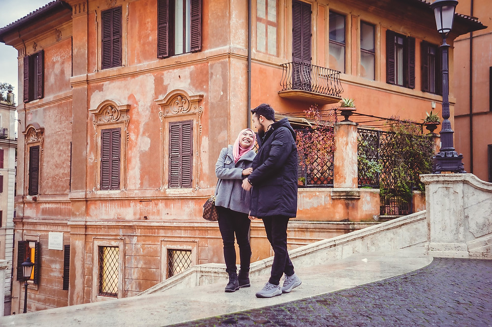 love story photo shoot in Rome