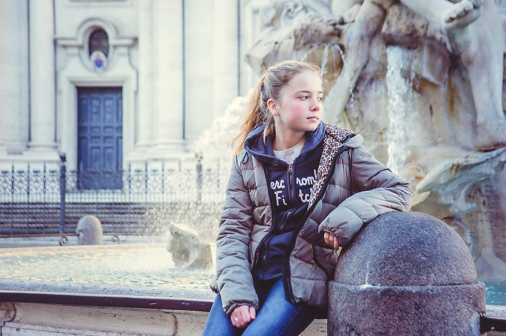 child photo shoot in Rome