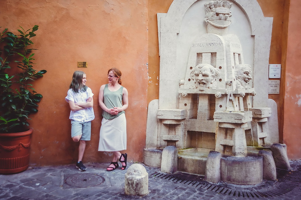 family photo shoot in Rome by destination photographer in Italy