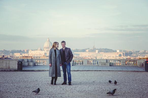Photo shoot at dawn in Rome