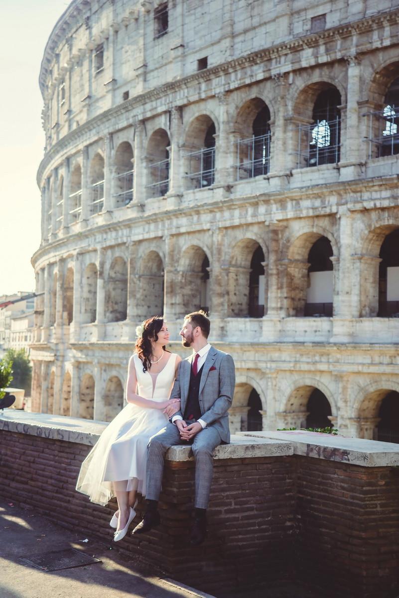 свадебная фотосессия в Риме от русскоговорящего свадебного фотографа в Италии