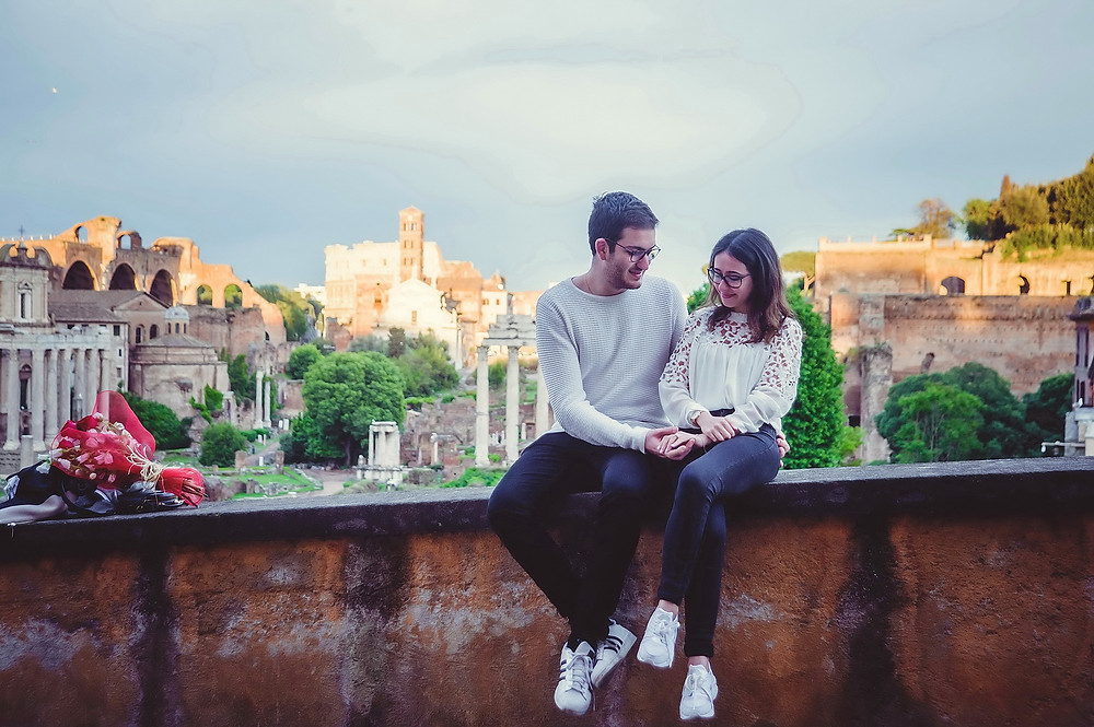 servizio fotografico di fidanzamento a Roma