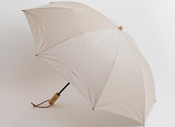 シャンブレーエゴ手元折りたたみ傘−ベージュ表