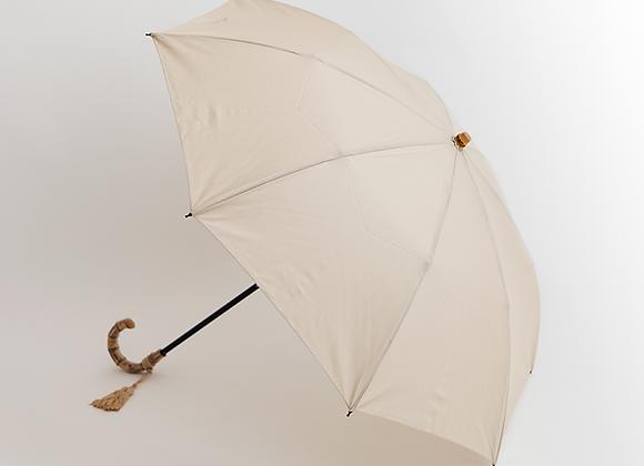 コットンピッケ折りたたみ傘−ベージュ表