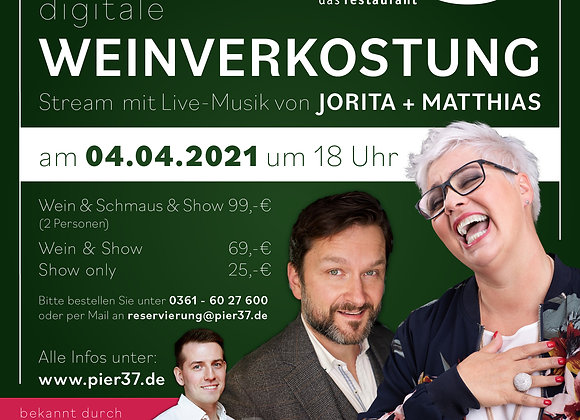 SHOW ONLY - Livestream-Ticket 04.04.2021, 18 Uhr