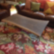 Live edge Black Walnut coffee table on hairpin legs. Created by Arbor-Craft.